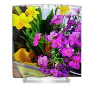 Window Box On A Windy Day Shower Curtain