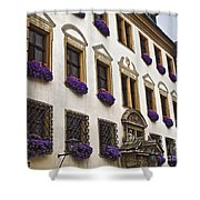 Window Boxes In Germany Shower Curtain