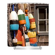 Rockport Buoy View Shower Curtain
