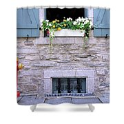 Window Flower Box 2 Shower Curtain
