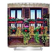 Window Flower Shower Curtain