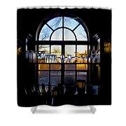 Window In A Bar Shower Curtain