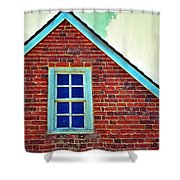 Window In Brick House Shower Curtain