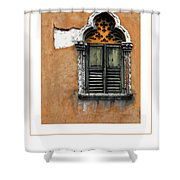 Window In Verona Poster Shower Curtain