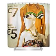 Window Mannequin 6 Shower Curtain