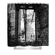 Window Of Haunted Abbey Shower Curtain