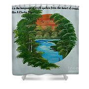 Window Of Peace Quotes Shower Curtain