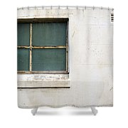Window On Concrete Shower Curtain