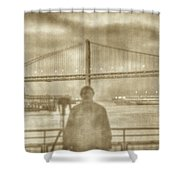 window self-portrait Embarcadero San Francisco Shower Curtain