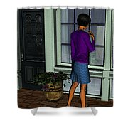 Window Shopper Shower Curtain