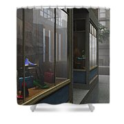 Window Shopping Shower Curtain by Cynthia Decker