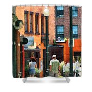 Window Shopping In Downtown Asheville Shower Curtain