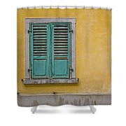 Window Shutter Shower Curtain