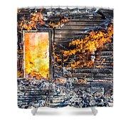 Window Thru The Depth Of Firey Fury Shower Curtain