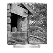 Window To Nowhere - Black And White Shower Curtain