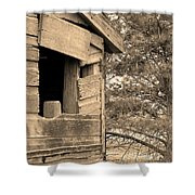 Window To Nowhere - Sepia Shower Curtain