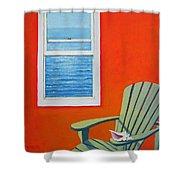 Window To The Sea No. 1 - Seashell Shower Curtain