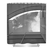 Window To The Sun - 4 - Bw Shower Curtain