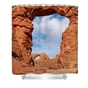 Windows And Turret Arches Shower Curtain