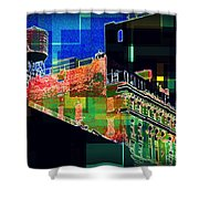 Windows And Watertower Shower Curtain