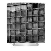 Windows Black And White Shower Curtain