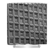 Windows In Black And White Shower Curtain