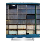Windows In Blue Building 2 Shower Curtain