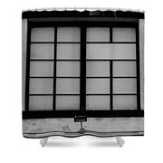 Windows Of Brooklyn In Black And White Shower Curtain