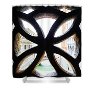 Windows Of Venice View From Palazzo Ducale Shower Curtain