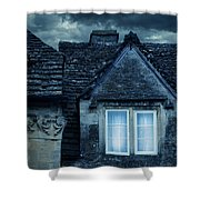 Windows On Stormy Night Shower Curtain