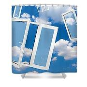 Windows To New World Shower Curtain