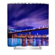 Winds And Lights Shower Curtain