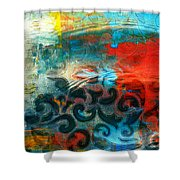 Winds Of Change - Abstract Art Shower Curtain