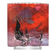 Windsurf Impression 02 Shower Curtain