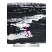 Windsurfing Man Shower Curtain