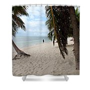 Windswept Palms Shower Curtain