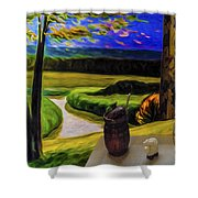 Windy Autumn With Still Life 05 Shower Curtain