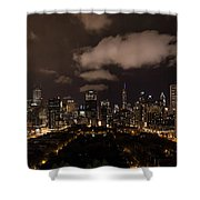 Windy City At Night Shower Curtain