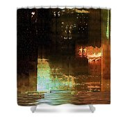 Windy City Night Shower Curtain
