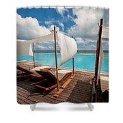 Windy Day At Maldives Shower Curtain