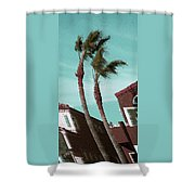 Windy Day By The Ocean  Shower Curtain