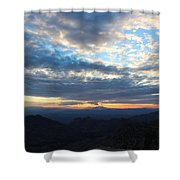 Windy Point Sunset Shower Curtain