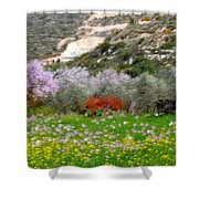 Windy Spring Day Shower Curtain