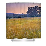 Windy Sunset At The Medieval Castle Shower Curtain