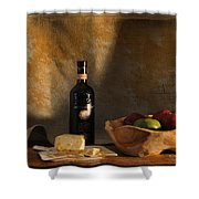 Wine And Cheese 1 Shower Curtain