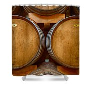 Wine Barrels Shower Curtain