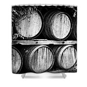 Wine Barrels Shower Curtain by Scott Pellegrin