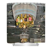 Wine Bottle Chandelier Shower Curtain