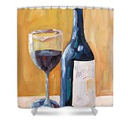 Wine Bottle Still Life Shower Curtain by Todd Bandy