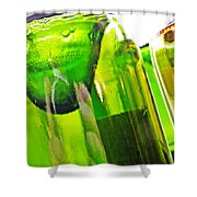 Wine Bottles 5 Shower Curtain by Sarah Loft